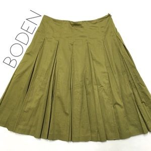 Anthro Boden olive green circle full skirt 14 XL